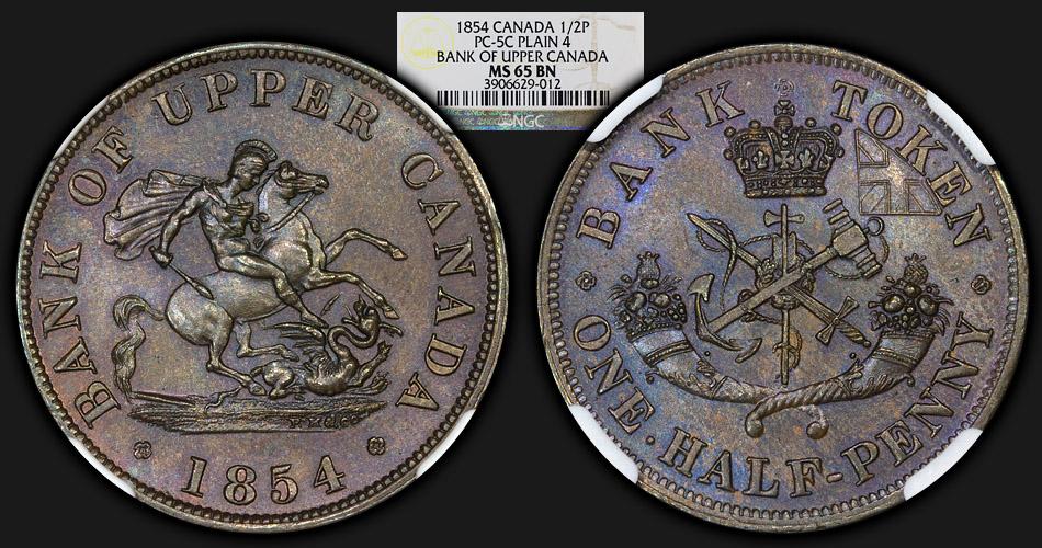 1854_UpperCanada_Halfpenny_NGC_MS65BN_co