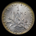 1919_france_1franc_pcgs_ms66_toned_rev